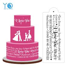 14in 6in i love you cake stencil design stencil wedding cake