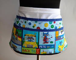 Pete The Cat Classroom Decor Teacher Apron Etsy