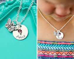 silver girls necklace images Girls jewelry etsy jpg