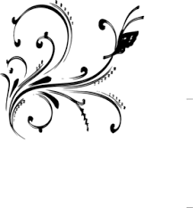 black white design black and white floral design with butterfly clip art at clker com