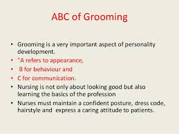 art of groomong for nursing professionals