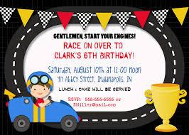 race car birthday invitations race car birthday invitations with