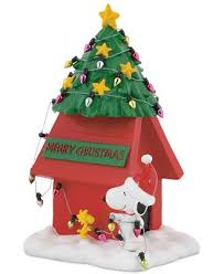 snoopy doghouse christmas decoration department 56 peanuts christmas snoopy dog house figurine