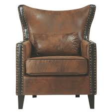 Leather Club Chair Home Decorators Collection Madrid Dark Brown Recycled Leather Club