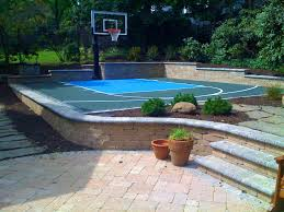 bedroom astonishing backyard basketball courts and home sport