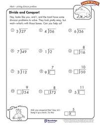 divide and conquer u2013 4th grade math worksheets u2013 jumpstart
