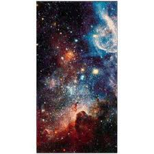 Outer Space Rug Watercolor Purple Area Rugs Rugs The Home Depot