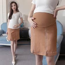 maternity skirt autumn new women pencil skirt high elastic waist