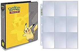 9 pocket pages ultra pro pikachu 3 ring binder with 25