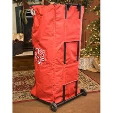 plain design tree storage bag with wheels rolling balsam