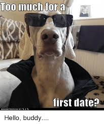 Funny Hello Meme - too much for a first date hasahotdogcom by hello buddy funny