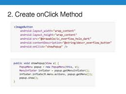 android onclick android and ios ui development android 5 0 and ios 9 0