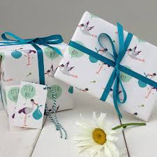 baby gift wrap new baby boy gift wrap by the blue owl notonthehighstreet
