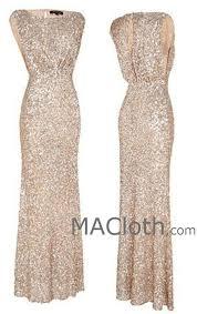 gold dress wedding macloth cap sleeves sequin gold bridesmaid dress wedding par
