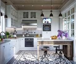 cuisine rustique blanche cuisine maison familiale russe au design intã rieur nã o