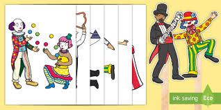 circus puppets circus stick puppets eyfs circus big top clowns ringmaster