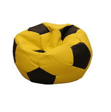 leatherette soccer ball yellow bean bag factory