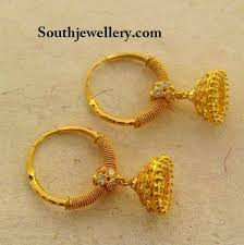 gold jhumka earrings kids gold jhumkas jewellery designs