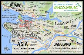 san francisco judgmental map this judgmental map of vancouver will make you uncomfortable