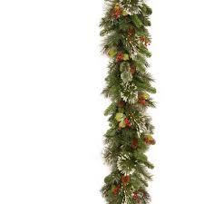 national tree company wintry pine garland with pine