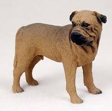 bull mastiff painted figurine statue