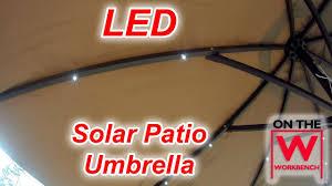 led solar umbrella youtube
