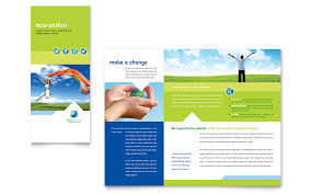 green living u0026 recycling tri fold brochure template word u0026 publisher