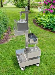 fontane per giardini fontana zen fai da te in acciaio inox per giardino bricoportale