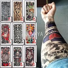fake sleeve tattoo elastic arm cover tattoo sleeve temporary