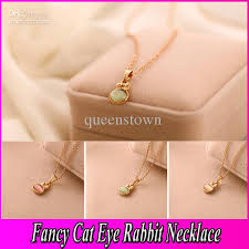 cat eye pendant necklace images Wholesale vintage cat eye stone rabbit pendant gemstone necklace jpg