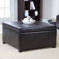 Wicker Storage Ottoman Coffee Table Living Room Storage Footstool Leather Ottoman Coffee Table Large