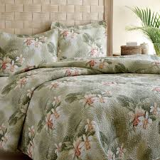 Tropical Bedspreads And Coverlets Tommy Bahama Bedding Tropical Orchid 3 Piece Reversible Quilt Set