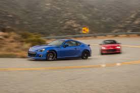 subaru sports car 2016 2016 mazda mx 5 miata vs 2015 subaru brz comparison motor trend