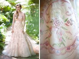 pink embroidered wedding dress embroidered wedding dress oasis fashion