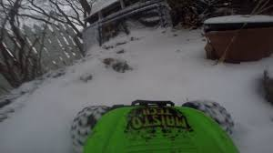 rc monster trucks videos go pro mounted to rc monster truck in the snow raw video youtube