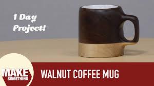 how to make an unusable wood coffee mug youtube