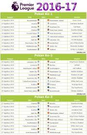 Jadwal Liga Inggris Kalender Jadwal Liga Inggris 2016 17 Pdf Idezia