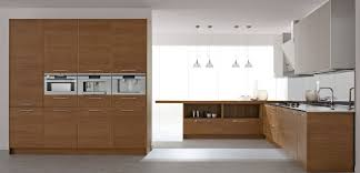 modern kitchen ideas with glass unit and light wood flooring