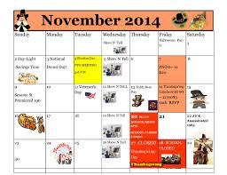 november 2014 calendar kiddie junction