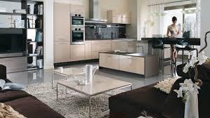 cuisine salon deco salon cuisine ouverte idées décoration intérieure