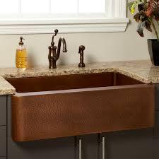 kitchen design ideas hammered copper farmhouse sink double