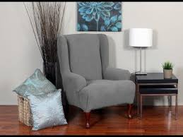 Slipcover Wing Chair The Wonderful Slipcovers For Wingback Chairs Youtube