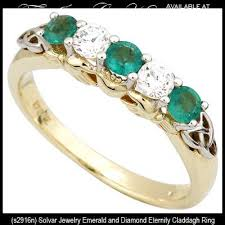 claddagh rings emerald claddagh ring gold eternity with diamonds