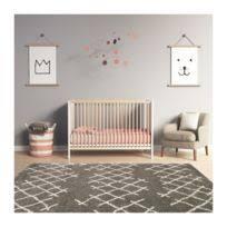 nattiot tapis vintage teddy ecru pour chambre bébé 120 170 cm