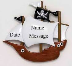 buy pirate ship ornament personalized ornament from a