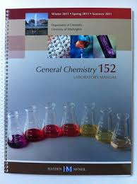general chemistry 152 laboratory manual university of washington