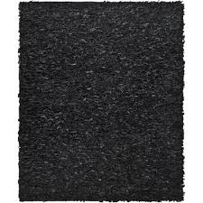 Safavieh Leather Shag Rug Safavieh Leather Shag Black 8 Ft X 10 Ft Area Rug Lsg511a 8