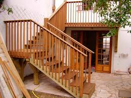 Deck Stairs Design Ideas Amazing Outdoor Stairs Design With Solid Wooden Material And