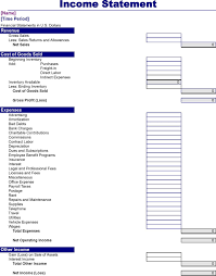 download income statement template for free tidyform