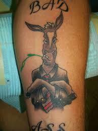 smoking donkey colored tattoo tattooshunt com